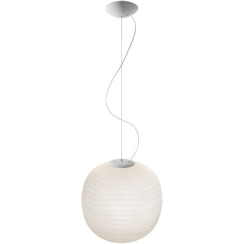 Foscarini Gem Sospensione LED, weiß, dimmbar