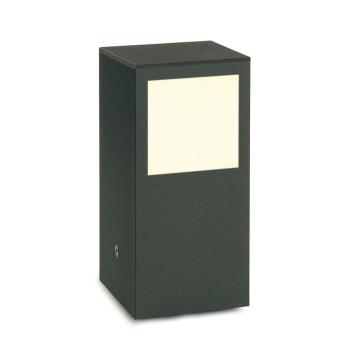 Mawa Design Wannsee 2 LED Pollerleuchte, pulverbeschichtet Eisenglimmer, Acrylglaskubus satiniert