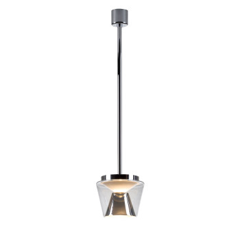 Serien Lighting Annex Suspension M LED, 13W, 3000K, Schirm klar / Reflektor Aluminium poliert