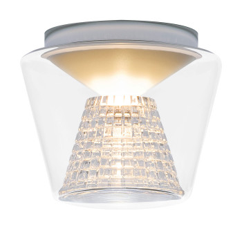Serien Lighting Annex Ceiling M LED, 27W, 2700K, dimmbar DALI, Schirm klar, Reflektor Kristallglas geschliffen