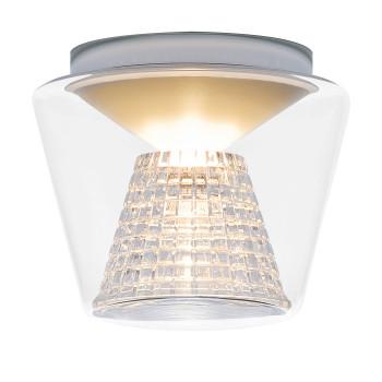 Serien Lighting Annex Ceiling M LED, 27W, 3000K, dimmbar DALI, Schirm klar, Reflektor Kristallglas geschliffen