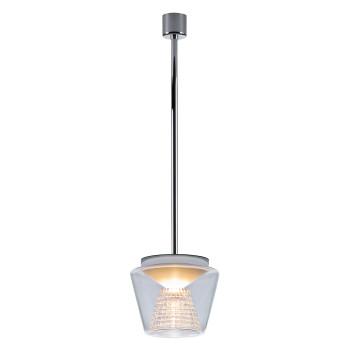 Serien Lighting Annex Suspension L LED, 41W, 2700K, dimmbar DALI, Schirm klar, Reflektor Kristallglas geschliffen