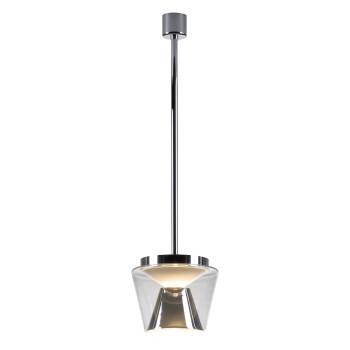 Serien Lighting Annex Suspension L LED, 41W, 3000K, dimmbar DALI, Schirm klar, Reflektor Aluminium poliert