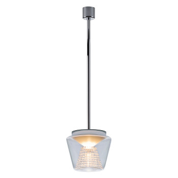 Serien Lighting Annex Suspension L LED, 41W, 3000K, dimmbar DALI, Schirm klar, Reflektor Kristallglas geschliffen