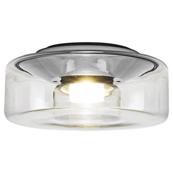 Serien Lighting Curling Ceiling L LED, 2700K, dimmbar DALI, Glasschirm klar