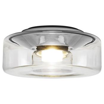 Serien Lighting Curling Ceiling L LED, 2700K, dimmbar Phasendimmer, Glasschirm klar