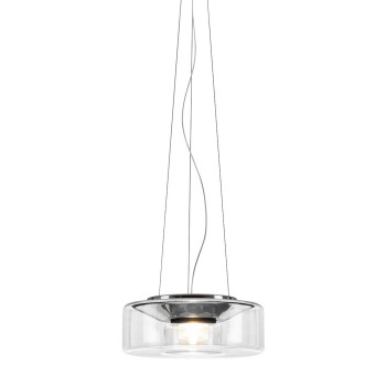 Serien Lighting Curling Suspension Rope L LED, 2700K, dimmbar DALI, Glasschirm klar