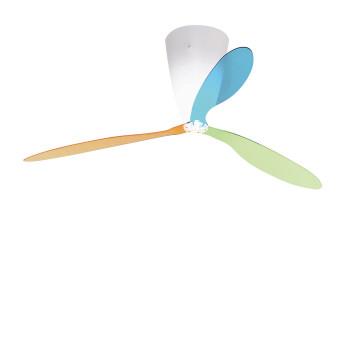 Luceplan Blow, grün / orange / blau