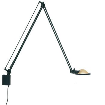 Luceplan Berenice Parete Grande, Struktur schwarz, Metallreflektor Messing