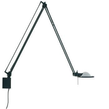 Luceplan Berenice Parete Grande, Struktur schwarz, Glasreflektor weiß satiniert