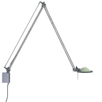 Luceplan Berenice Parete Grande, Struktur Alu, Glasreflektor salbeigrün