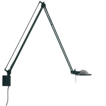 Luceplan Berenice Parete Grande, Struktur schwarz, Metallreflektor alu