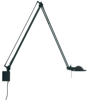 Luceplan Berenice Parete Grande, Struktur schwarz, Metallreflektor schwarz