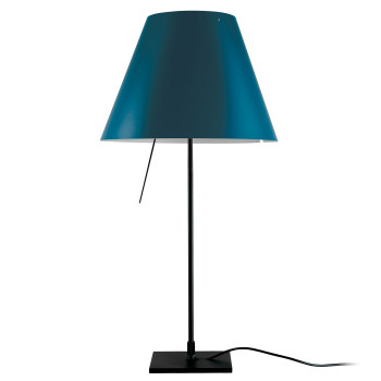 Luceplan Costanzina Tavolo noir, bleu marine