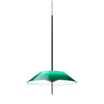Vibia Mayfair 5520 Pendelleuchte, Glänzendes Schwarz-Nickel und grün