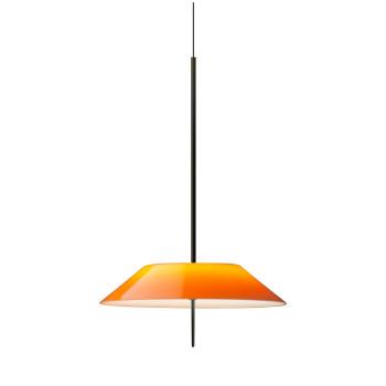 Vibia Mayfair 5520 Pendelleuchte, Glänzendes Schwarz-Nickel und orange