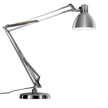 FontanaArte Naska 1 Lampe de table LED, châssis chromé, pied rond chromé