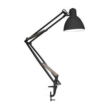 FontanaArte Naska 1 Lampe de table LED, châssis noir, pince noir