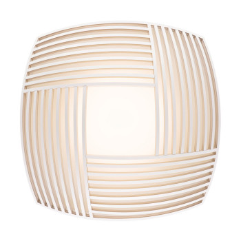 Secto Kuulto 9100 Wall/Ceiling Light, white laminated birch