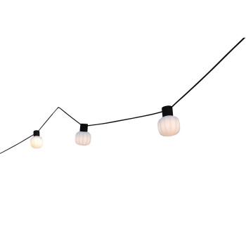 Martinelli Luce Kiki Outdoor, 3 lampes / longueur du câble 8 m