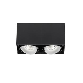 Delta Light Minigrid On Si 250 Box 33° Plafonnier, noir à l'extérieur / blanc à l'intérieur