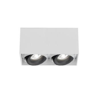 Delta Light Minigrid On Si 250 Box 33° Plafonnier, blanc à l'extérieur / noir à l'intérieur
