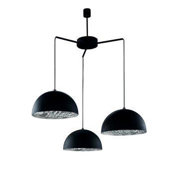 Catellani & Smith Stchu-Moon 02 Chandelier, Schwarz/Silber, ⌀ 40 cm