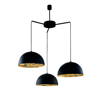 Catellani & Smith Stchu-Moon 02 Chandelier, Schwarz/Gold, ⌀ 40 cm