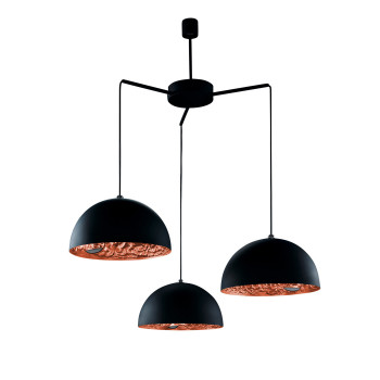 Catellani & Smith Stchu-Moon 02 Chandelier, Schwarz/Kupfer, ⌀ 40 cm