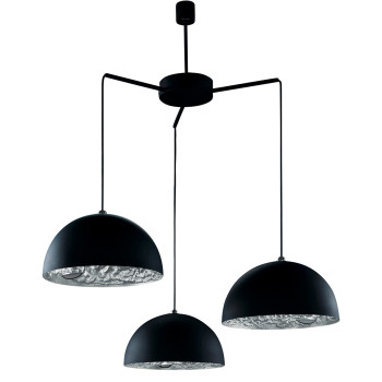 Catellani & Smith Stchu-Moon 02 Chandelier, Schwarz/Silber, ⌀ 60 cm