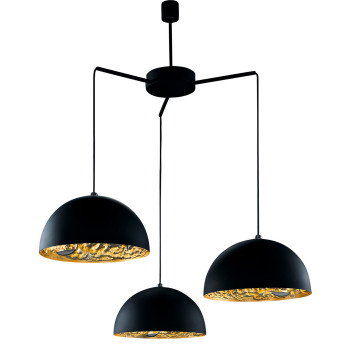 Catellani & Smith Stchu-Moon 02 Chandelier, Schwarz/Gold, ⌀ 60 cm