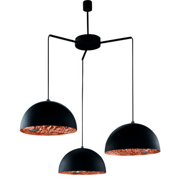 Catellani & Smith Stchu-Moon 02 Chandelier, Schwarz/Kupfer, ⌀ 60 cm