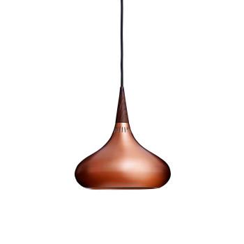 Fritz Hansen Orient P1, copper / rosewood, black cable
