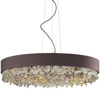 Masiero Ola S6 90, bronze mat, verre en couleurs chaudes