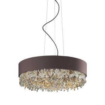 Masiero Ola S6 60, bronze mat, verre en couleurs chaudes