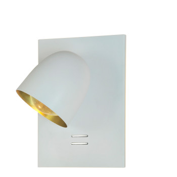 B.Lux Speers W2L, außen weiß / innen Messing