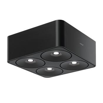 Nimbus Q Four 40° Aufbau-Deckenleuchte, schwarz, 3000K