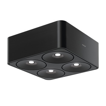 Nimbus Q Four 80° Aufbau-Deckenleuchte, schwarz, 3000K