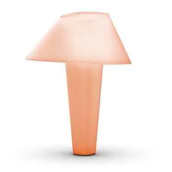 Wever & Ducré Rever 2.0 Tischleuchte, Leuchte rosa (hip rose), Sockel Chrom