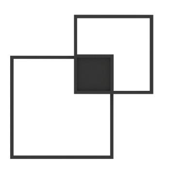 Wever & Ducré Venn 1.0 Applique, 3000K, noir
