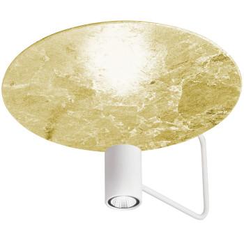 Holtkötter Disc 2402-2, blanc / réflecteur feuille d'or
