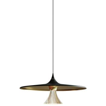 Artemide Ipno Sospensione LED, schwarz / gold