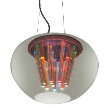 Artemide Spectral Light, Struktur Chrom / Schirm transparent