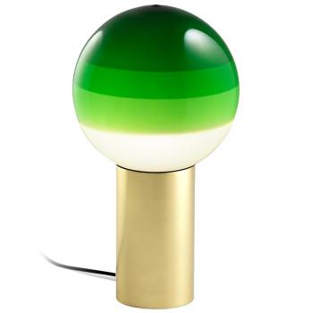 Marset Dipping Light M, Messing gebürstet / grün