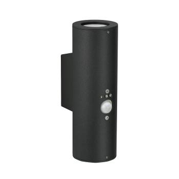 Albert 2480 Wandleuchte mit Bewegungsmelder, schwarz (Albert 662480)