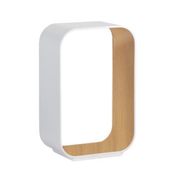 Pablo Designs Contour Table Small, weiß / Eiche