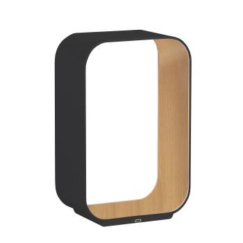 Pablo Designs Contour Table Small, graphitgrau / Eiche