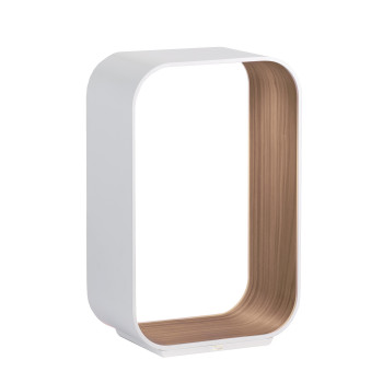 Pablo Designs Contour Table Small, weiß / Walnuss
