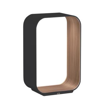 Pablo Designs Contour Table Small, graphitgrau / Walnuss