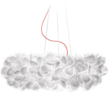 Slamp Clizia Mama non Mama Suspension, Large (⌀ 78 cm), rotes Kabel